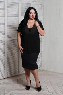 Блуза 066601 ЛаТэ (Черный)