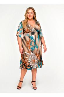 """Платье """"ЛаТэ"""" 160514 (Мультиколор)"""