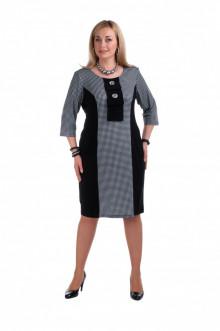 """Платье """"Олси"""" 1305016 ОЛСИ (Серо-черный)"""