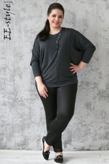 """Блуза """"Её-стиль"""" 1122 ЕЁ-стиль (Графит)"""