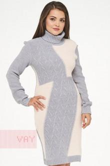 Платье женское 182-2334 Фемина (Ледяной/нежный персик)