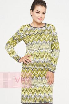 Платье женское 2317 Фемина (Темный моренго/оливка/белый)
